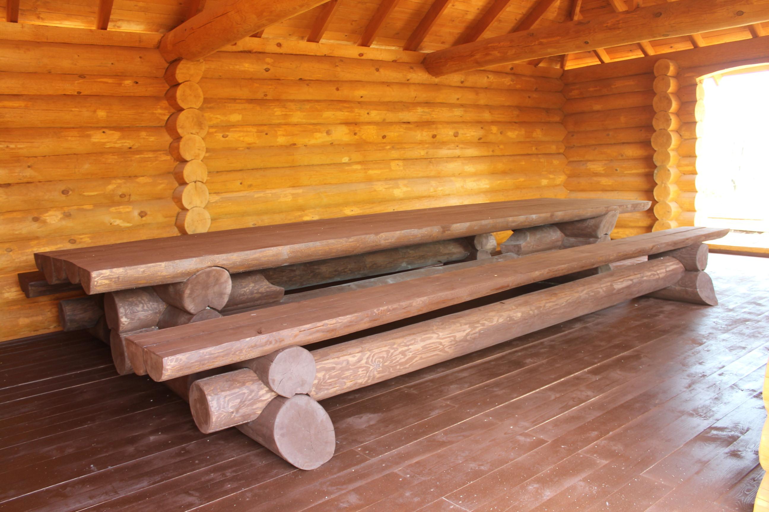 Дервянные скамейки и столы. Изготовление